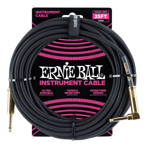 Ernie Ball Braided Cable ( Black ) Front